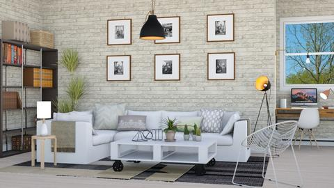 Industrial Scandinavian - Living room - by lovedsign