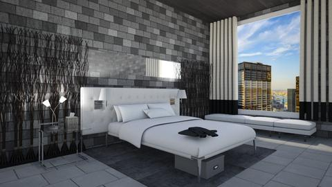 Glass and Bricks - Modern - Bedroom - by Tummy
