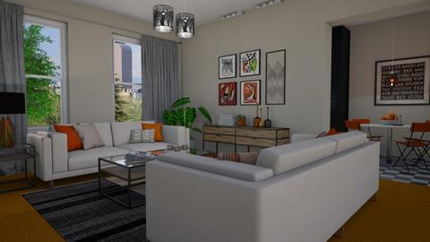 Orange Carpet - Living room - by Tuija