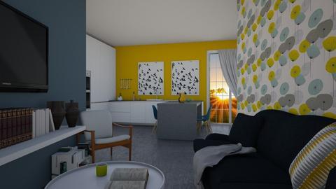 Bleu jaunatre  - Living room - by Miss MH