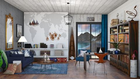Nautical Office - Rustic - Office - by Roquette