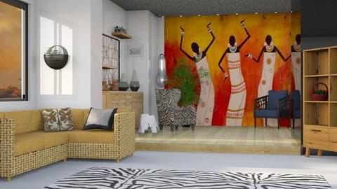 African Dreams - Global - Living room - by Jessica Fox