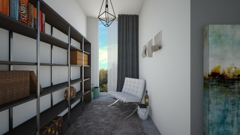 concrete reading room - by Glendyx