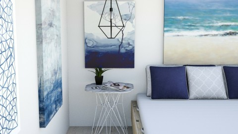 White and Blue - Modern - Bedroom - by AnaCatarina