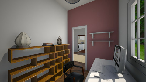 Small office alt angle - Rustic - Office - by sarahbatty