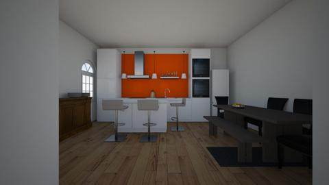 KITCHEN TAM - Minimal - Kitchen - by trinityyyyy19