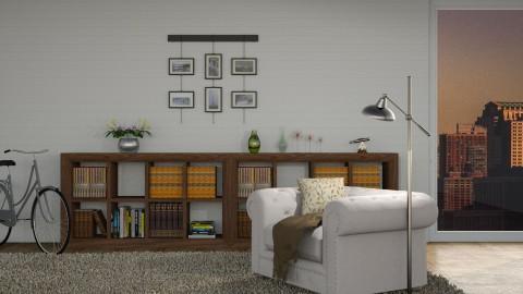 Minimalistic - Minimal - Living room - by Lissii08