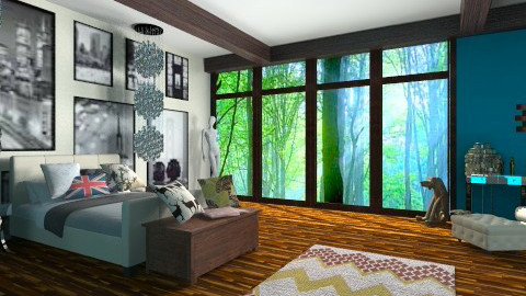 wood3mh - Bedroom - by Vajk Grti