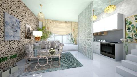Sunny day - Living room - by NATALIAWADRANSKA