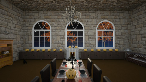Halloween  - Dining room - by Lovethewild123