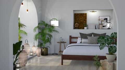 Urban Jungle Bedroom - by kyrabaldwin