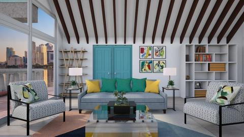 Mid Century Modern LR - Living room - by Kelly Carter
