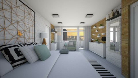 Bedroom redesign - Modern - Bedroom - by GoliaNova