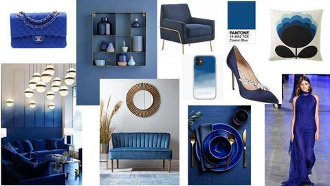 Classic blue inspiration - by OlgaKoy
