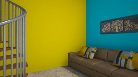 Yellow - Living room - by Redecorations