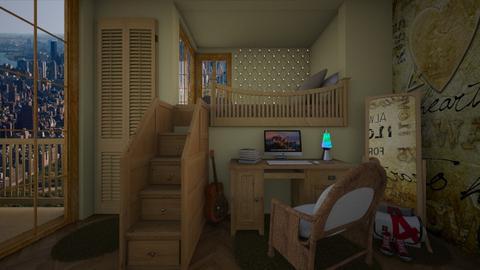 teenager - Bedroom - by sorroweenah