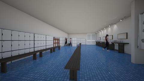 pool locker room - Modern - by lemonyellowhouse