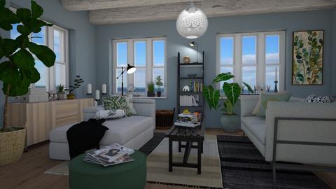 Bohemian beach living - Living room - by Tuija