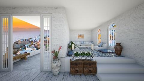 Greece Living Room - Living room - by roosbarmentlo