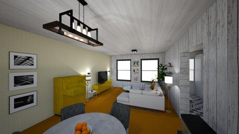 Orange Carpet - Living room - by lisvm
