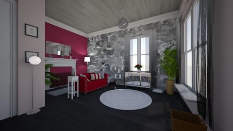 charcoal n cherries - Living room - by mlle_m