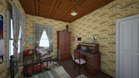 Girls Room 1940s - Vintage - Bedroom - by PeculiarLeah