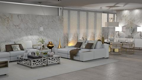 White Decoration 1 - Living room - by Mariana Gooliveira