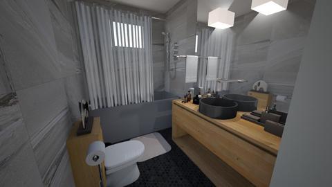 casa do gabriel outrobanh - Bathroom - by jupitervasconcelos