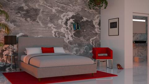Red and Grey - Bedroom - by lovedsign
