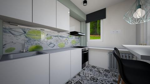Buc_MCrudu_electric final - Kitchen - by IoanaC