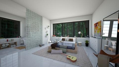 Bed on the floor - Modern - Bedroom - by irug19_