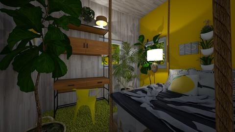 lemonbedroom - Bedroom - by HIHELLOHI