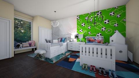 TWin boy and girl - Kids room - by Avery McCaffrey