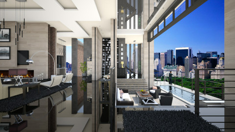 NY Penthouse - Modern - Living room - by evahassing