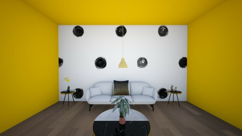 POLK A DOT  - Living room - by janelleyc3