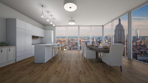 modern dining room - Dining room - by 16phowarthx