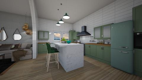 green kitchen - by shistyle