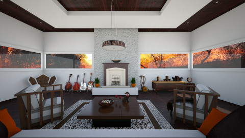 Fireplace relaxing - Classic - Living room - by Tuubz
