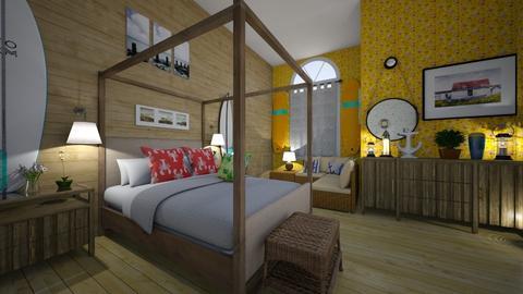 surf bedroom - Bedroom - by hillygabe