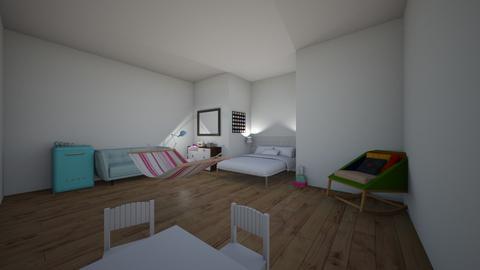Pastel cutie bed room - Bedroom - by GeekyGirl