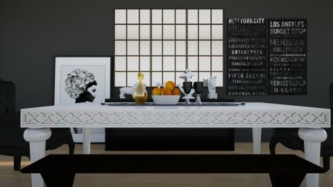 BNW - Dining room - by devaphrodite