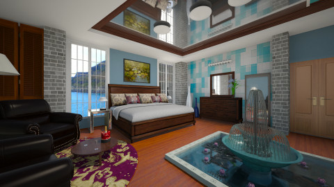 Suit in Ireland - Bedroom - by Colomba Wimble