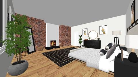modern bedroom - Bedroom - by maddiechard1993