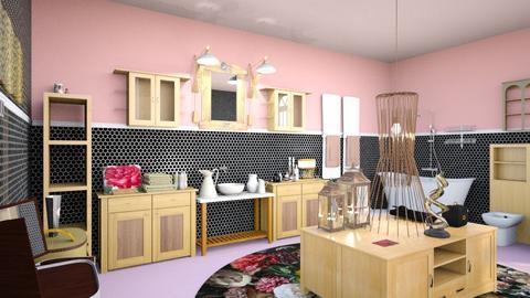 Pink and Black Bath - Modern - Bathroom - by natasa mihajlovic