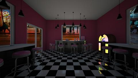Retro Pink Bar - by Cool Coder Girl