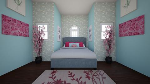 Floral Bedroom - Feminine - Bedroom - by WPM0825