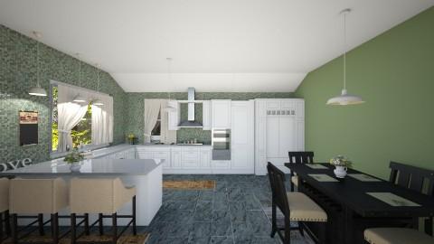 Green Kitchen - Classic - Kitchen - by Jessica Whittaker