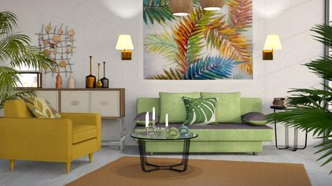 M_ Palms - Living room - by milyca8