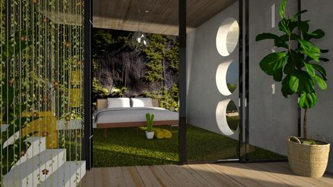 moss mural - Modern - Bedroom - by jjannnii
