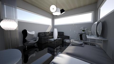 Black But Not Bleak - Eclectic - Bedroom - by KajsaRain